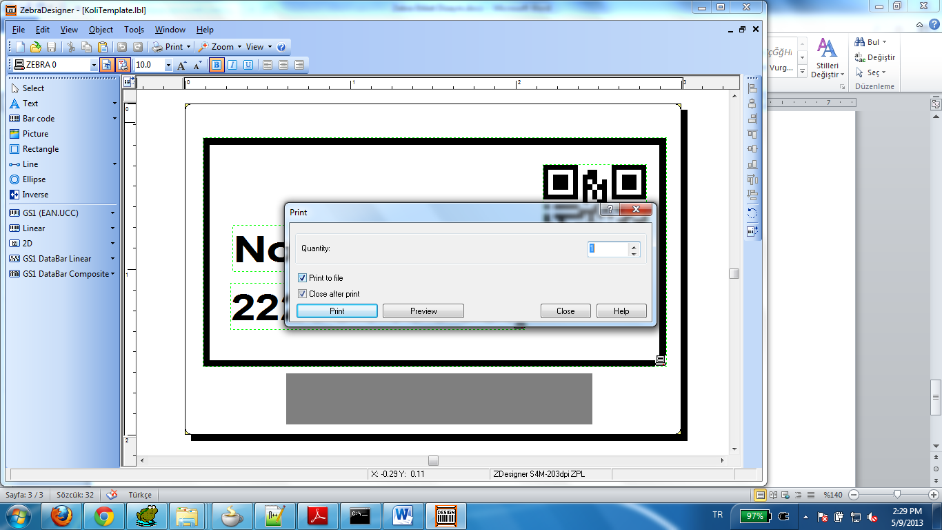 Zebra S4M Label Design ve Java ile Yazdırma - dDemireldDemirel